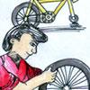 修理脚车 bicycle repair