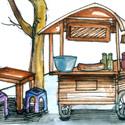 咖啡摊,咖啡档口 coffee stall