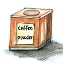 咖啡粉 coffee powder