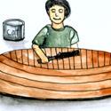 油漆舢舨 paint sampan