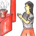 拜香,上香,烧香 burn incense
