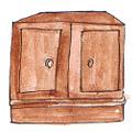 菜橱,碗柜 food cupboard,dish cabinet