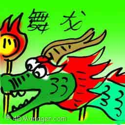 舞龙 dragon dance